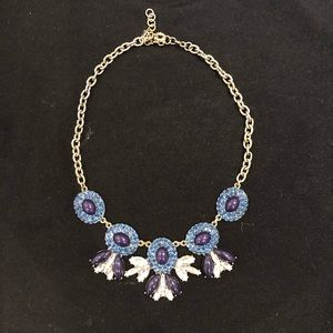 J Crew Necklace Jewelry. Blue gems.